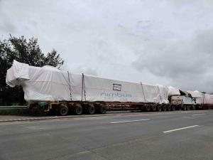Oversize and Overweight Cargo Transported via Mumbai Pune Expressway on Hydraulic Axle Modular Trailer