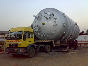 ODC Tank transported on Low Bed Trailer from Valsad to Paradeep.