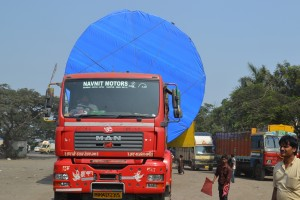 Nimbus Logistics MAN 430 + 10 Row Hydraulic Axles. From Hazira, Surat, Gujarat to Jamnagar, Gujarat.