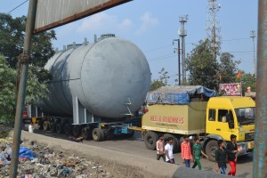 Nimbus Logistics MAN 280 + 8 Row Hydraulic Axles. From JNPT to Madurai, Tamil Nadu.